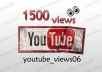Work on no less than 1500 Real Human YOUTUBE Views