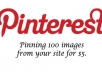 pin or repin not less than 100 images from your website online store