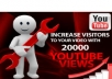 will blast Your Video with Super Fast 20,000+ Real and Safe YouTube Views along with 40+ Likes, 30 Subscribers and 10 Favorites