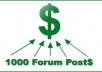 create 1000 Forum Post backliks
