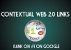 get your website //Panda and Penguin Compatible ►PR 6 to 9◄ Web 2 0 User Profile Backlinks