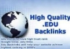 create 1100 EDU BACKLINKS Dofollow backlinks included to push your website on Google First Page