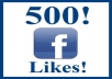 give you 500+ Real People Facebook Like for your fanpage