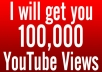 Provide you 100,000 Organic YouTube views from Facebook in 36 Hours