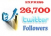 give you 26,700++ SAFE Twitter followers follow in less then 24 hours with out the need of your password just only