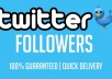 send you 50,000+ Twitter FOLLOWERS no eggs to your account within 24 hours