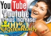 get you 2000 real youtube VIEWS including likes and subs from real humans