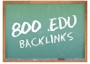 give u 800+ **EDU** seo links for your website through blog comments just only