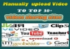 upload video with Manually to Top 30+ videos sharing sites