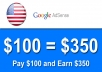add 250 USA Clicks to your Google AdSense (Safe) Earn Upto $350 Revenue in your AdSense Account