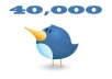 add 40000+ twitter follower to your any 2 twitter account within 22 hours 20000x2=40000 just