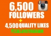 get you 6500+ instagram followers and 4500+ instagram likes to your profile