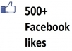 give you 100(upto 500) REAL + Manual facebook likes