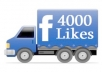 Add 4000+ Facebook likes to your fanpage
