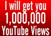Provide you 1 Million Organic High Quality YouTube views from Facebook with in 5 days