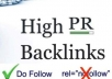 create 250+ high PR backlinks from actual PR1 to PR6 sites just
