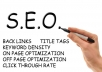 ❶backlinks your website manually and create 3 Edu + 2 Gov + 1000 submission to statistic website + ping all the url
