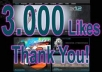 get you 3000+ Facebook likes within 48 hours To your fanpage for
