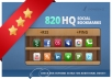 Submit your Site to 820+ Social Bookmarks + RSS + Ping + SEO Backlinks