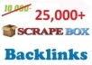  create Massive 25000 Blog Comment Backlinks With Scrapebox , Fresh AA List Everyday, Boost Your Ranking 