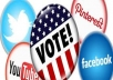 Give you 50+ Facebook Fans Likes + Real & Active 50 Twitter Followers + 50 You-Tube Likes + 30 Google+1`s Votes + 50 pinterest  followers only