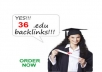 create 36 DOFOLLOW edu or gov backlinks