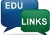create you 50 or more edu and gov backlinks, links from edu and gov are held as a premium for search engine results and raising your site