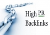 create 20 backlink from edu and gov with index PR5 to PR9