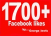 get you 1700+ Facebook likes to your fanpage within 2 days