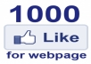 give you 1000 ITALIAN authentic Facebook likes &quot;mi piace&quot; guaranteed safe to any domain website webpage blog sito site in Italy