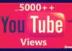 provide 5000 FAST and Real YouTube Views to your Video in 10 days