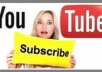 Give you 1500 youtube subscribers inless than 24 hours without admin access