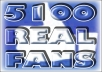 Provide 5,100 REAL Facebook Fans for your FanPage - ACTUAL Page Likes!!