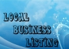 submit your business details on 57 TOP US CITATION SITES to boost your google rank