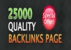 create 25,000 backlinks to any website or url Dofollow High PR Backlinks Included