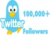 will add  1,00,000+ Real twitter followers In 24 Hours to your account without needing pass super Fast delivery