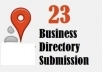 submit your business details on the *23 TOP UK* CITATION SITES to boost your google places listing