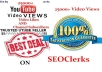 provide 3103+ YouTube Video Views and 30 Video Likes in less than 48 hours