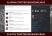 design a custom Twitter background