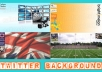 create for you a personalized / custom Twitter background