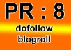 place your link permanent on my HQ pagerank 8 blog