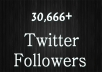 give you 30,666+ High quality ✔ Twitter Followers ✔ to your profile in 1 day and ✔ with Huge Bonus