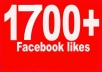 get you Guaranteed 1700+ Facebook likes within 24 hours To your fanpage