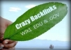 give you total 9000 wikilink edu and gov included for just 24 hours