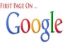 show how to rank on first page of GOOGLE and remain there forever