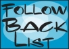 give you a list of over 110.000 Twitter users that Follow Back Followback Followers