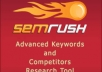 run an SEMrush reports for up to 5 domains or keywords