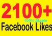give you 2100+ facebook fans to your fanpage within 24 hours
