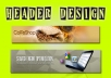 design HEADER or Facebook Cover fast to Increase your Brand Recognition within 24hrs
