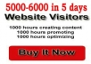 sent you ★2000 +★ Adsense safe real and human visitors/traffic to your website in 24 hours with report. Get Unique Traffic from all over the world